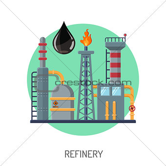 Oil refinery icon