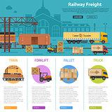 Railway Freight infographics