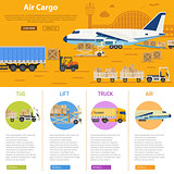 Air cargo infographics