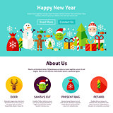 Happy New Year Web Design