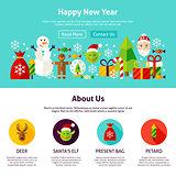 Happy New Year Web Design