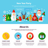 New Year Party Web Design