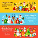 New Year Web Horizontal Banners
