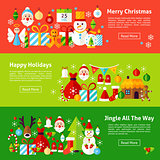 Merry Christmas Web Horizontal Banners