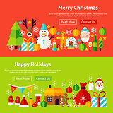 Merry Christmas Website Banners