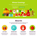 Winter Greetings Web Design