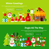 Winter Greetings Website Banners