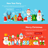 Winter Holidays Website Banners
