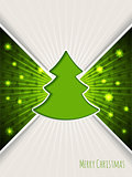 Christmas greeting with bursting green christmas tree