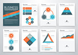 Vector set of infographics business