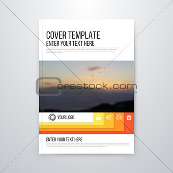 brochure design template vector flyer