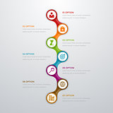 infographics timeline seven options