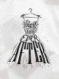 Poster wedding dress