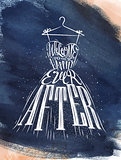 Poster wedding dress blue