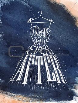 Poster wedding dress blue