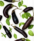 Raw Small Eggplants