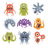 Aggressive Fantastic Alien Microorganisms Set