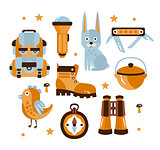 Camping Themed Symbols Illustration