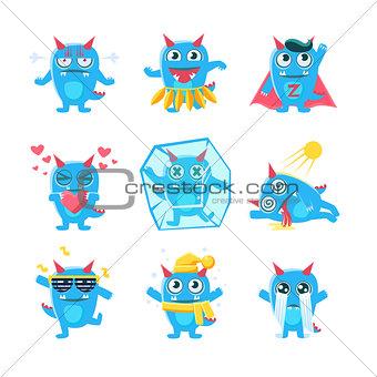 Blue Monster Character Activities
