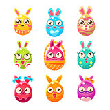 Egg Shaped Easter Bunny In Different Designs
