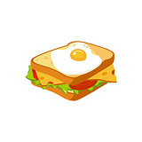 Sandwich Breakfast Food Element Isolated Icon