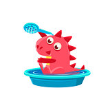 Red Dragon Taking A Bath