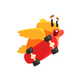 Duckling Skateboarding Cute Character Sticker