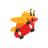 Duckling Skateboarding Cute Character Sticker