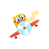 Duckling Pilot Cute Character Sticker