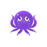 Crying Funny Octopus Emoji