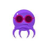 Sceptic Funny Octopus In Shades Emoji