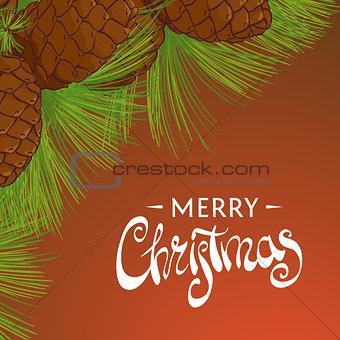 Christmas cedar cones