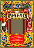 Circus Carnival Frame vintage 2d vector