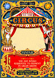 Circus Carnival Invite vintage 2d vector