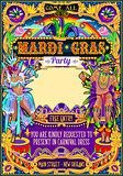 Mardi Gras Carnival Poster Frame Carnival Mask Show Parade