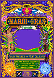 Mardi Gras Carnival Poster Illustration Carnival Mask Show Parad
