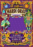 Mardi Gras Carnival Poster Theme Carnival Mask Show Parade
