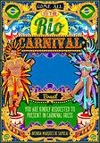 Rio Carnival Poster Frame Brazil Carnaval Mask Show Parade
