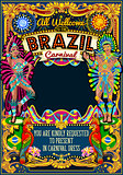 Rio Carnival Poster Theme Brazil Carnaval Mask Show Parade