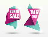 Sale banner templates