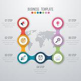 Vector illustration infographics seven options
