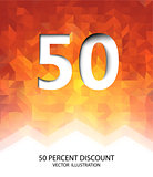 Fifty Percent Discount Vector Illustration