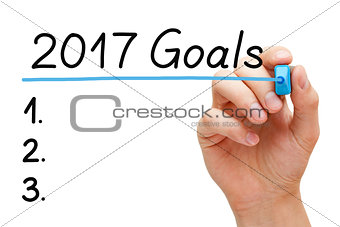 Blank Goals List Year 2017