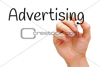 Advertising Hand Black Marker