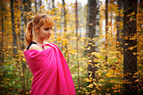 Outdoor atmospheric portrait of young beautiful girl