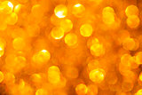Golden Glowing Bokeh