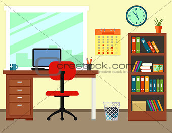 business office or home workplace
