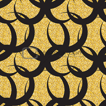 Abstract Simple Glossy Golden Seamless Pattern Background