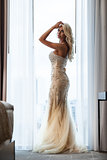 Lady in long dress