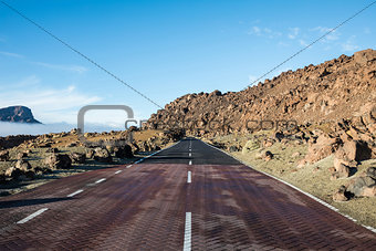 On the road for the Teide in Tenerife, Spain